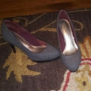 Christian Siriano Gray wool winter heels